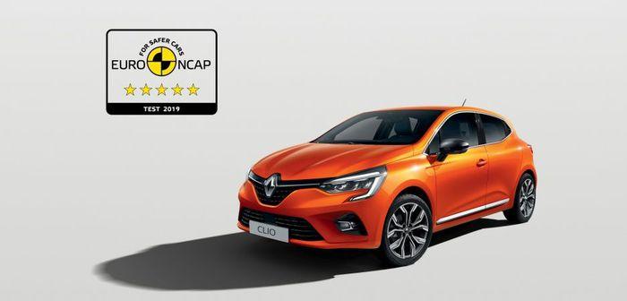 La nouvelle Clio 5 obtient les 5 étoiles Euro NCAP